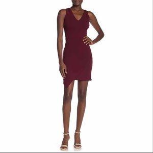 love...ady Burgundy Sleeveless Asymmetrical Dress